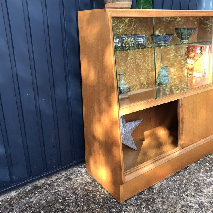 RESERVED - Sideboard Bookcase Drinks Cabinet - Mid Century ...