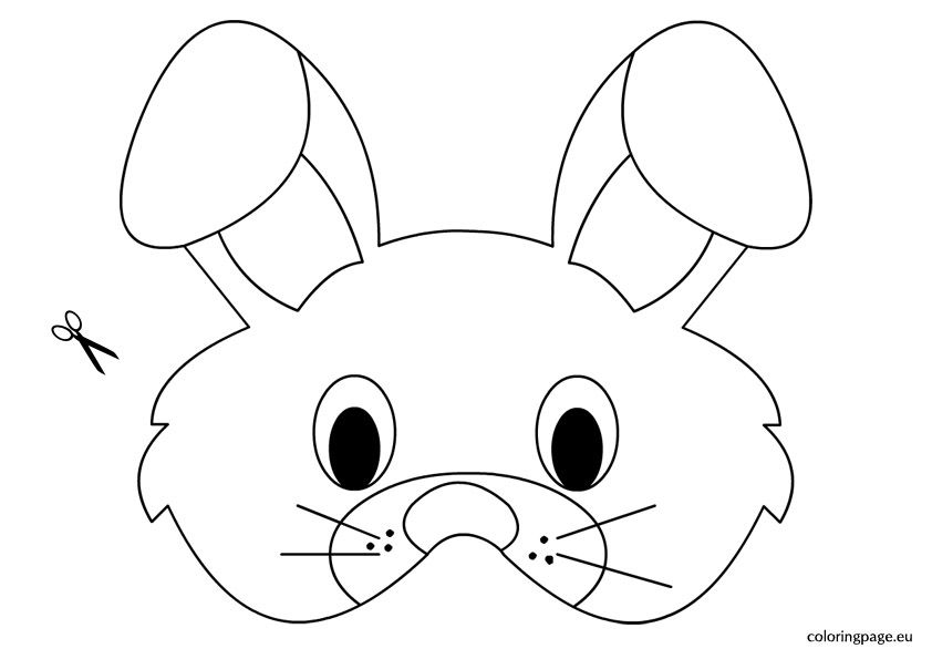 Rabbit Mask Template With Images Printable Easter Activities