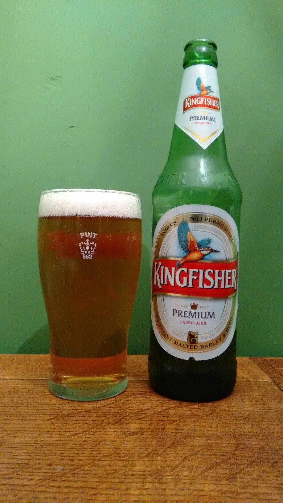 Kingfisher Premium Lager. An Indian Beer apparently but