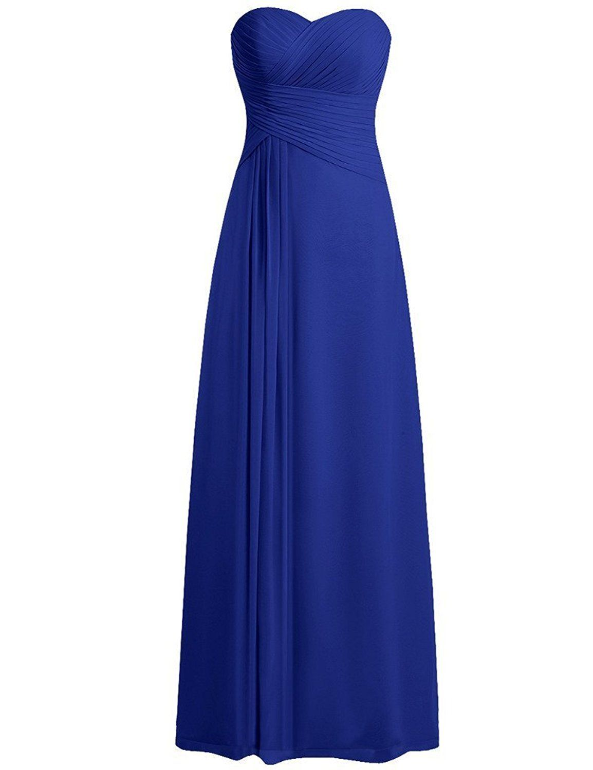 1231285ee8a JAEDEN Sweetheart Bridesmaid Dresses Chiffon Long Prom Evening Gown Pleat  -- Insider s special review you can t miss. Read more   Dresses