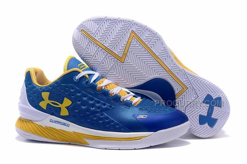 Cheap Under Armour Curry One Low Womens Royal Blue Yellow Black