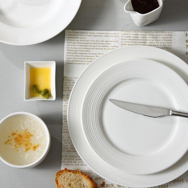 Stave Lines Series Dinnerware Set For Hotel And Restaurant Ceramic Tableware Porcelain Dinnerware Dinnerware