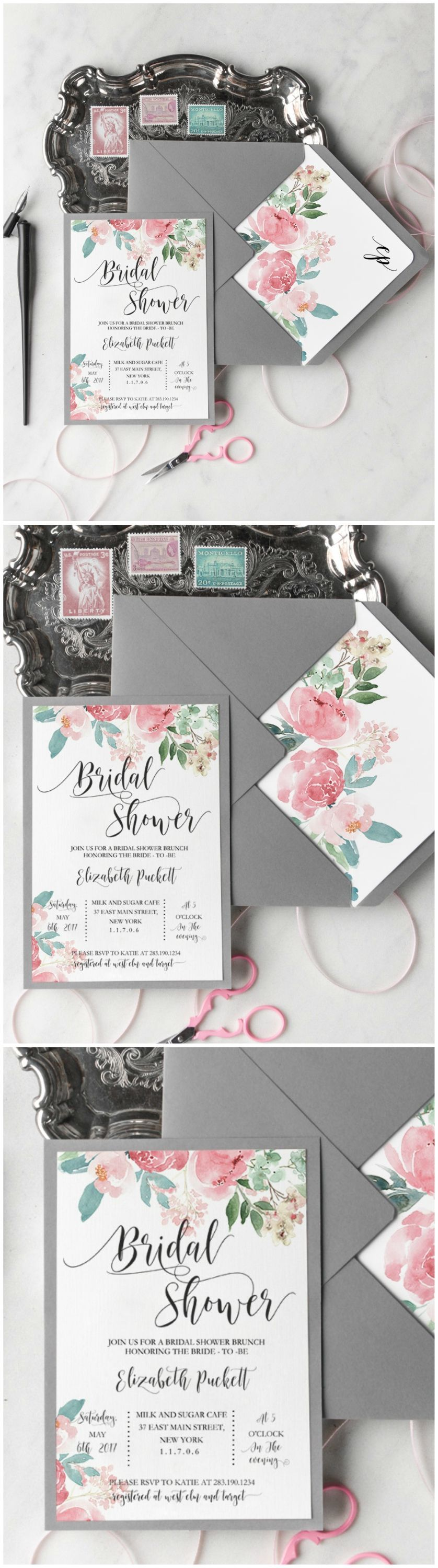 Floral Watercolor Invites Weddinginvitation Wedding Invitation