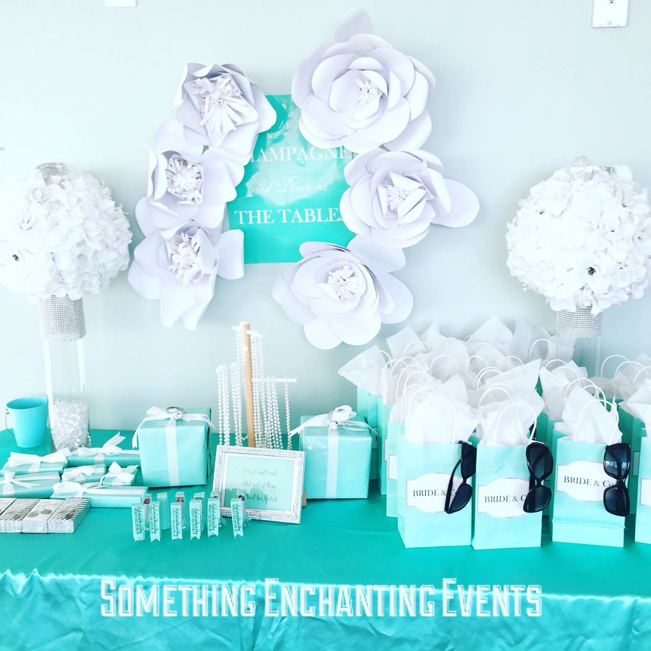 Paper Flowers Sunglasses Tiffany Wrapped Gifts Lipsticks And