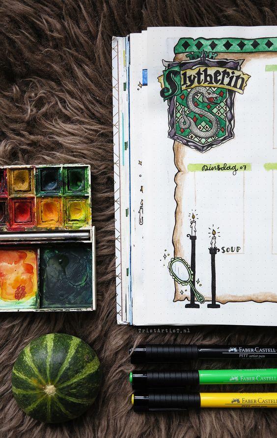 Bullet Journal - Harry Potter Hufflepuff-Thema