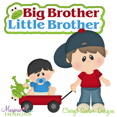 Big Brother Little Brother Cutting Files-Includes Clipart