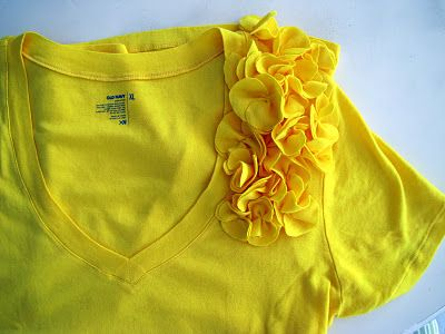 Easy tutorial for embellishments. Mix and match colors of the flowers and shirts too! Get creative!