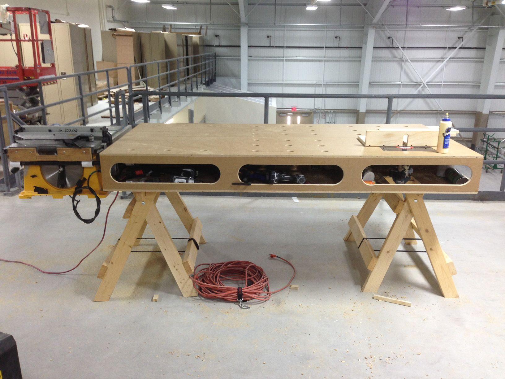 The Paulk Workbench #Woodworking #Paulk #Carpentry #Diy #Workbench
