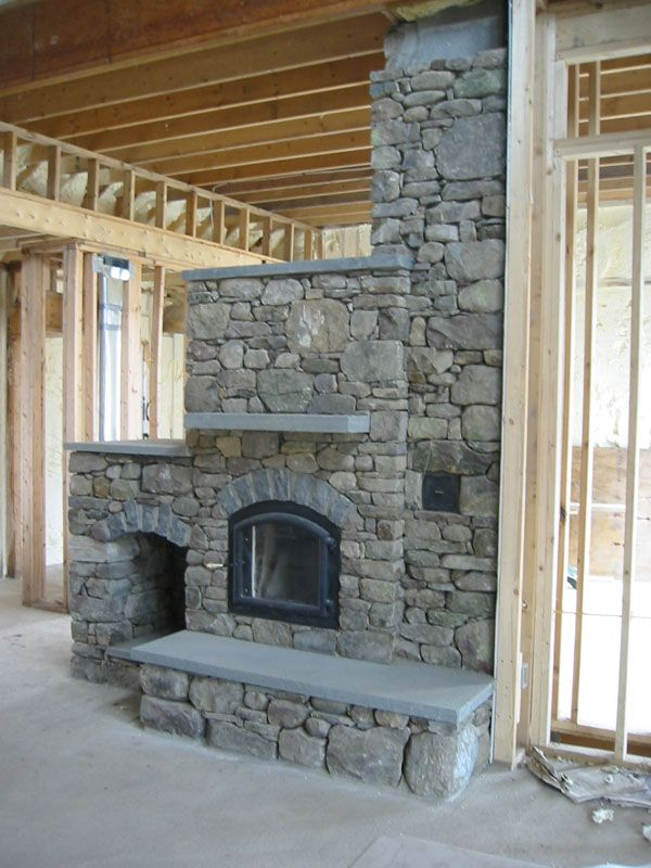Pictures Of Floating Fireplaces Fieldstone Fireplace With Wood