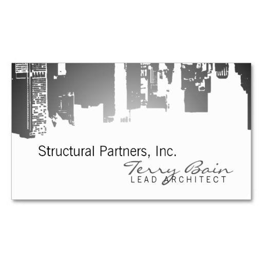 Gradient Upside Downtown Architect Business Card Zazzle Com Architecture Business Cards Business Card Design Architect