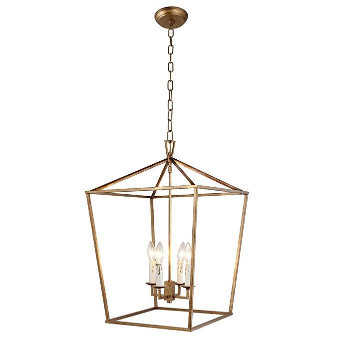 Amazon Com Meelighting Gold Plated Crystal Chandelier Lighting