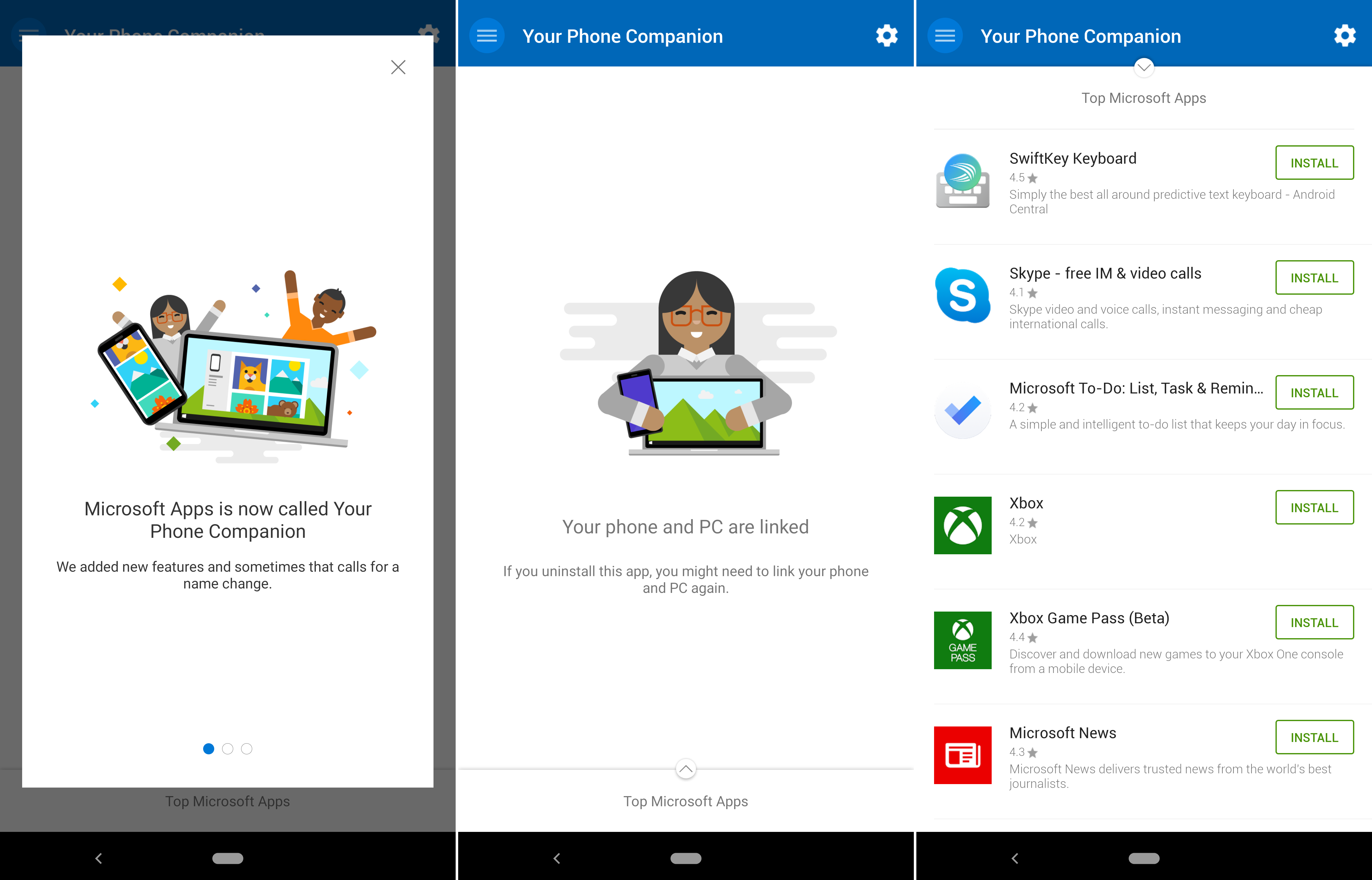 Microsoft rebrands Microsoft Apps on Android to Your Phone