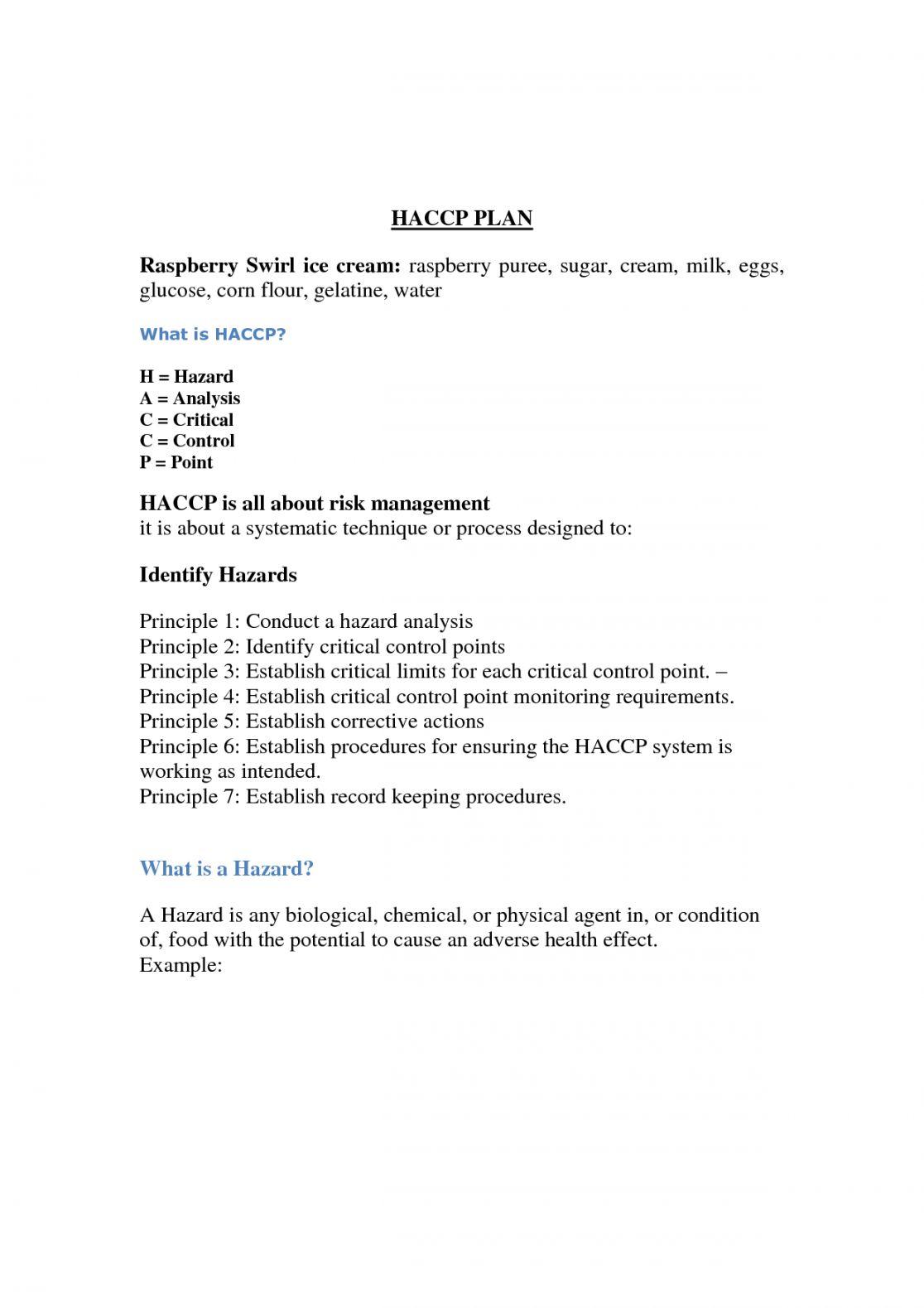 Free Printable Business Plan Sample Form Generic Business Plan