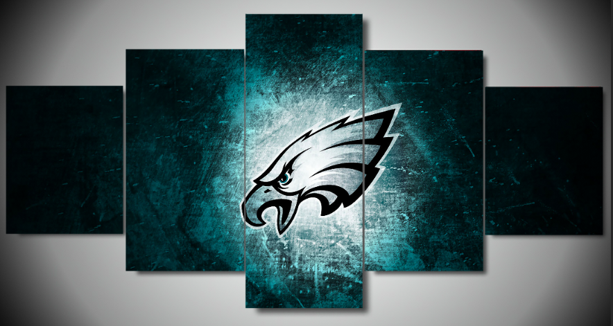 Philadelphia Eagles Wall Art 5 Panel Large Wall Canvas High
