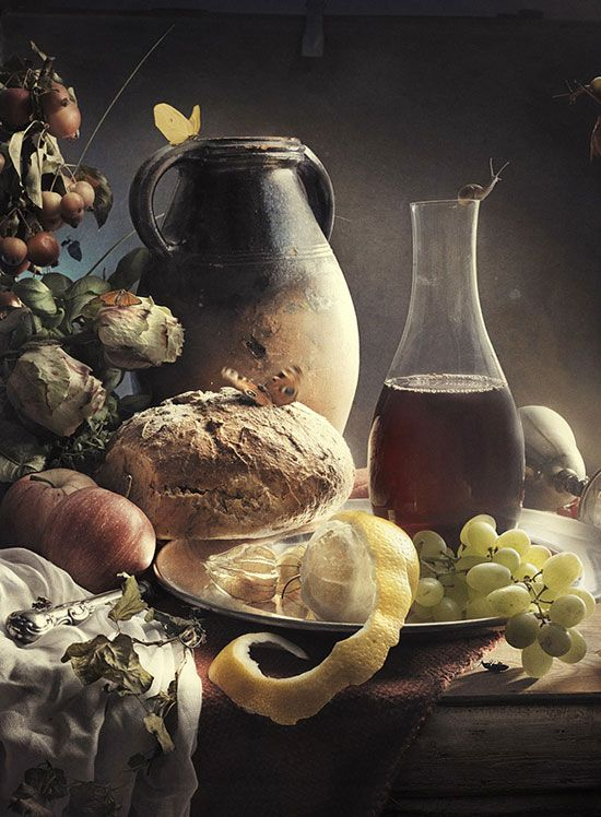 STILL LIFE WITH WINE, BY UNKNOWN