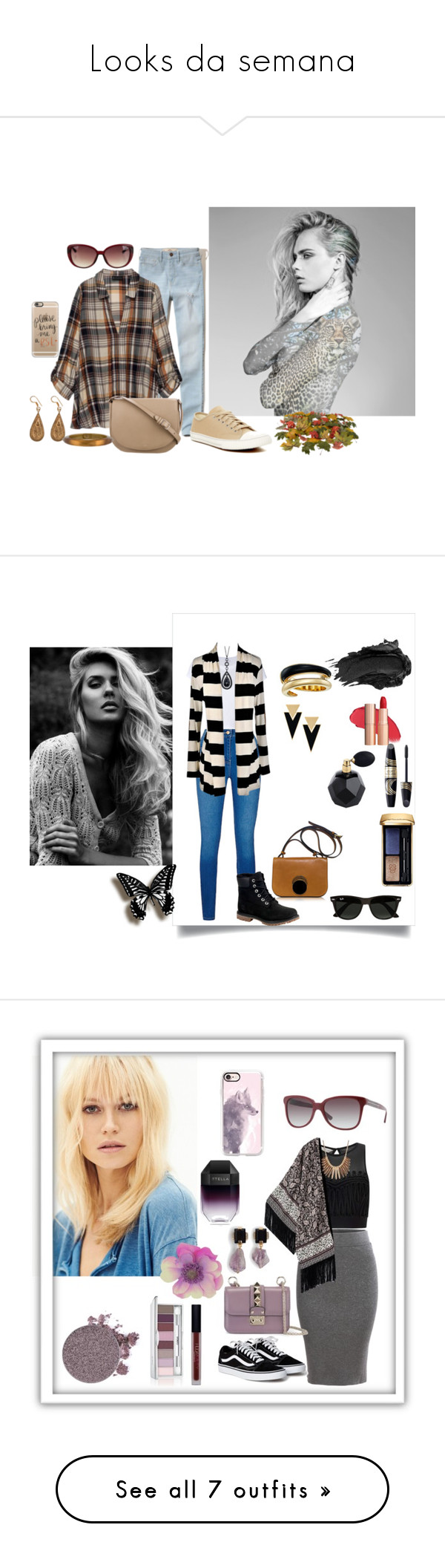 """Looks da semana"" by megeller on Polyvore featuring moda, Hollister Co., Bobeau, Tretorn, CÉLINE, Casetify, Urbiana, Alexis Bittar, RE/DONE e Timberland"