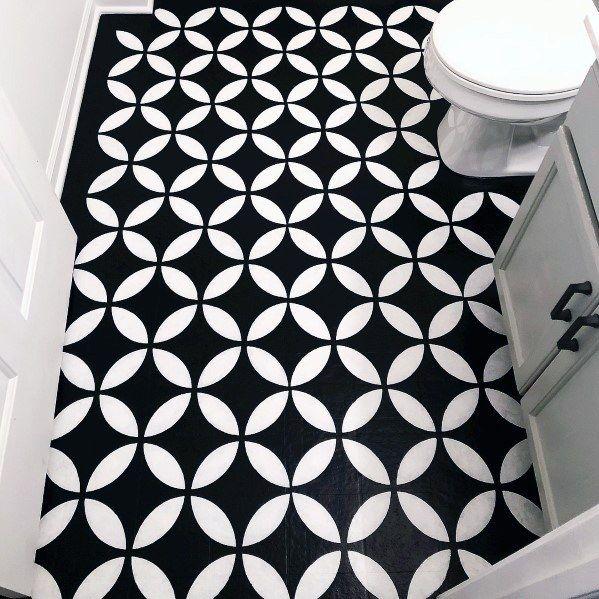 Painted Vinyl Linoleum Floor Makeover Ideas: Top 60 Best Painted Floor Ideas
