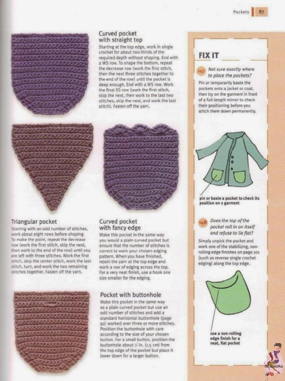ISSUU - TECNICAS CROCHET de Tejenora | crochet stiches & how