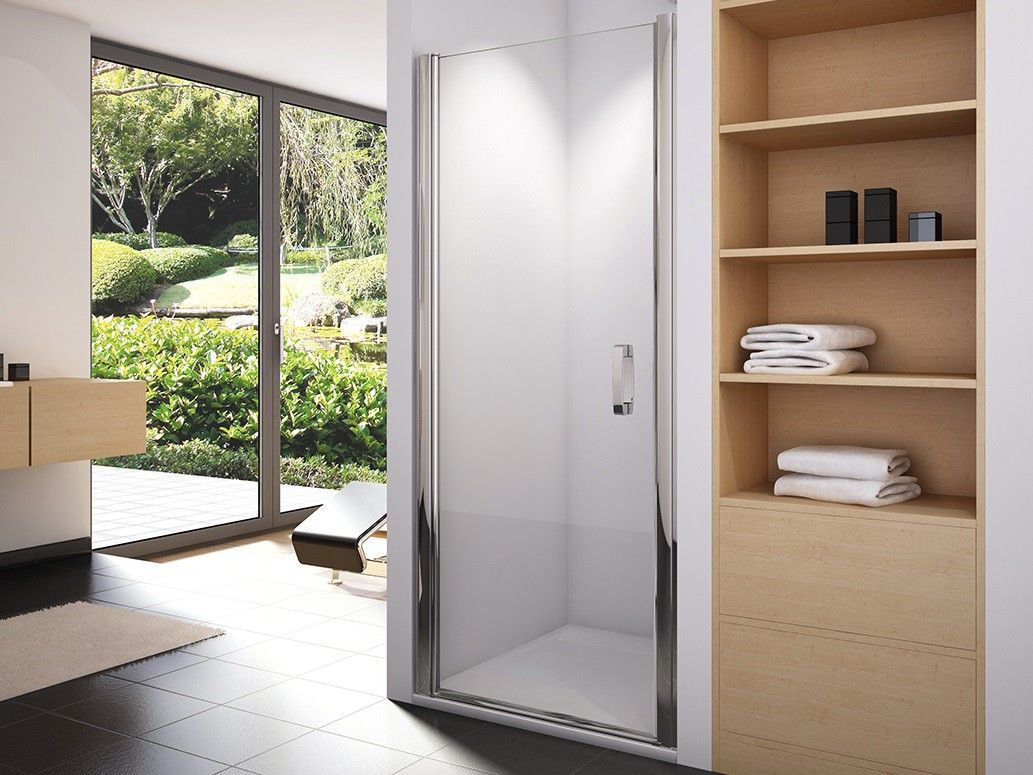 nischent r 60 x 195 cm pendelt r pendelt r ffnend nach innen und au en echtglas esg klar hell 6. Black Bedroom Furniture Sets. Home Design Ideas