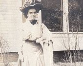 By the Hitching Post- Edwardian Fashions- 1900s Vintage Photograph,  By the Hitching Post- Edwardian Fashions- 1900s Vintage Photograph,