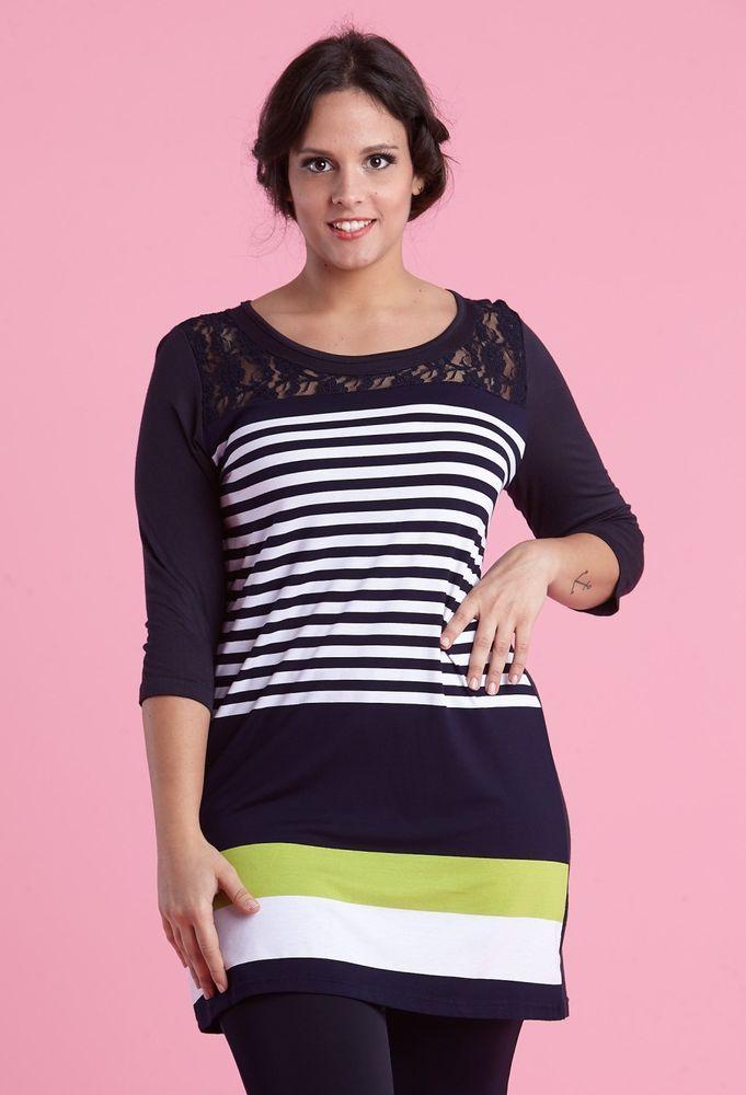 maglia tinica magliettone donna lady xl taglie forti 0333 taglie m l xl xxl xxxl