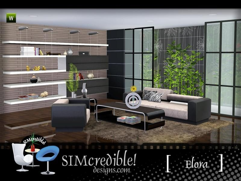 A modern living room for your sims ^^ by SIMcredibledesigns.com ...