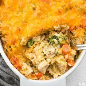 El pollo vegetal cursi y arroz a la cazuela - Presupuesto Bytes