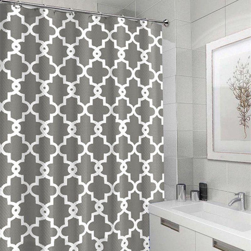 Bathroom Mildew Resistant Anti Bacterial Shower Curtain Waterproof Polyester Bath Screen Bathroom Ceiling Paint Bathroom Decor Curtains