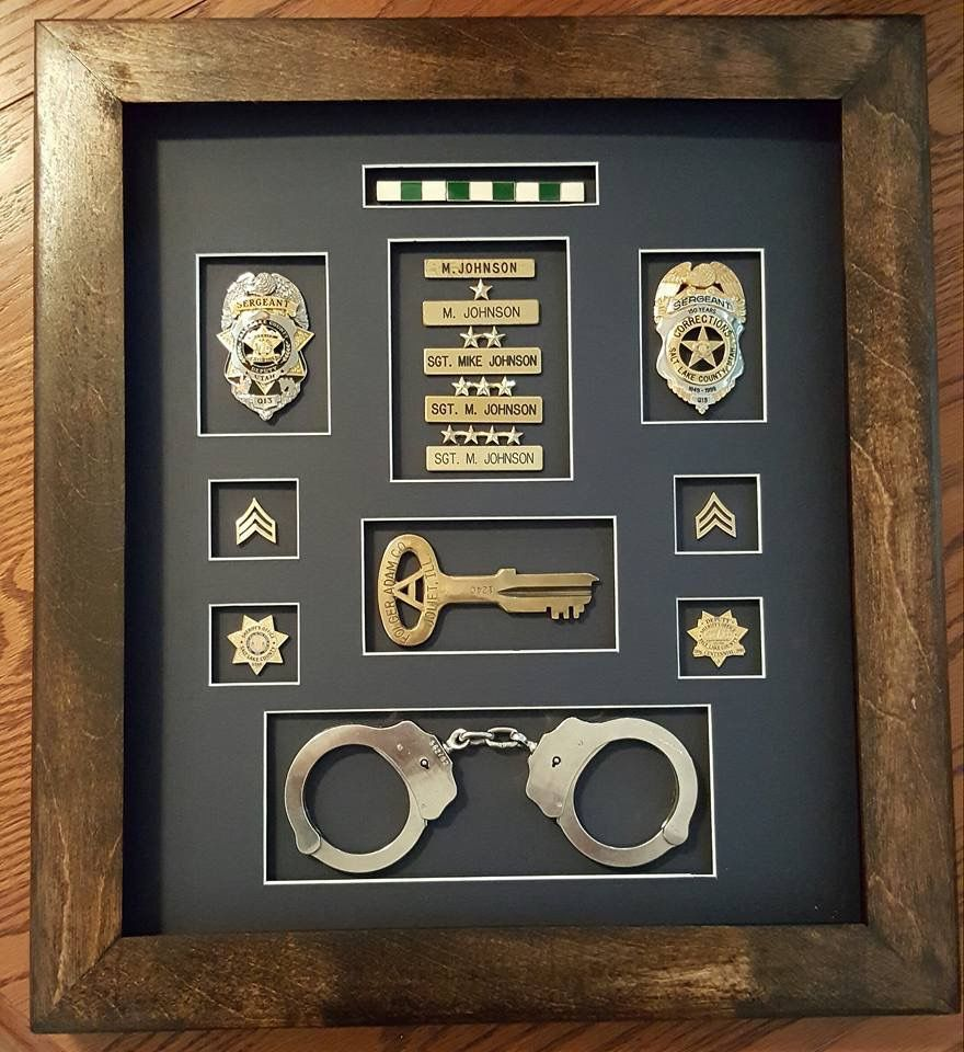 Made by mike johnson correction officer shadow box shadow boxes made by mike johnson correction officer shadow box jeuxipadfo Choice Image