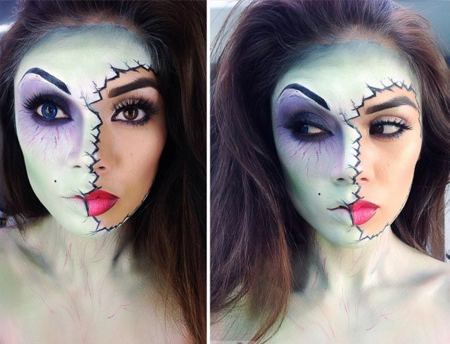 фото макияж для хэллоуина