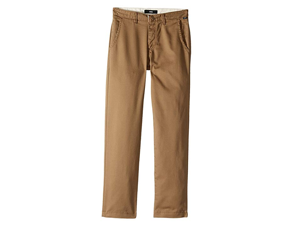 Vans Kids Authentic Chino Stretch Pants Little KidsBig Kids Dirt Boys Casual Pants Classic styling and skateboard functionality combine with these stretchy and durable ch...