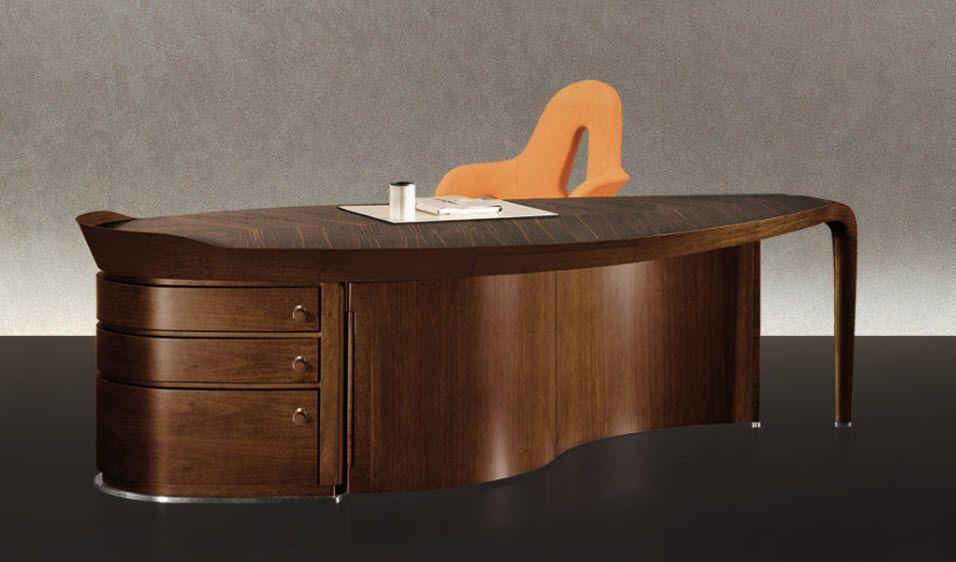 Contemporary Executive Wooden Office Desk ERASMO By Massimo Scolari  GIORGETTI