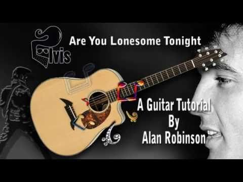Are You Lonesome Tonight Elvis Acoustic Guitar Lesson Easy Ish