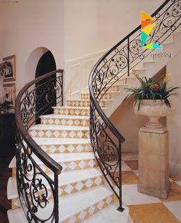 كتالوج صور سلالم داخلية بتصميم مودرن للمنزل العصري Staircase Stairs Handrail