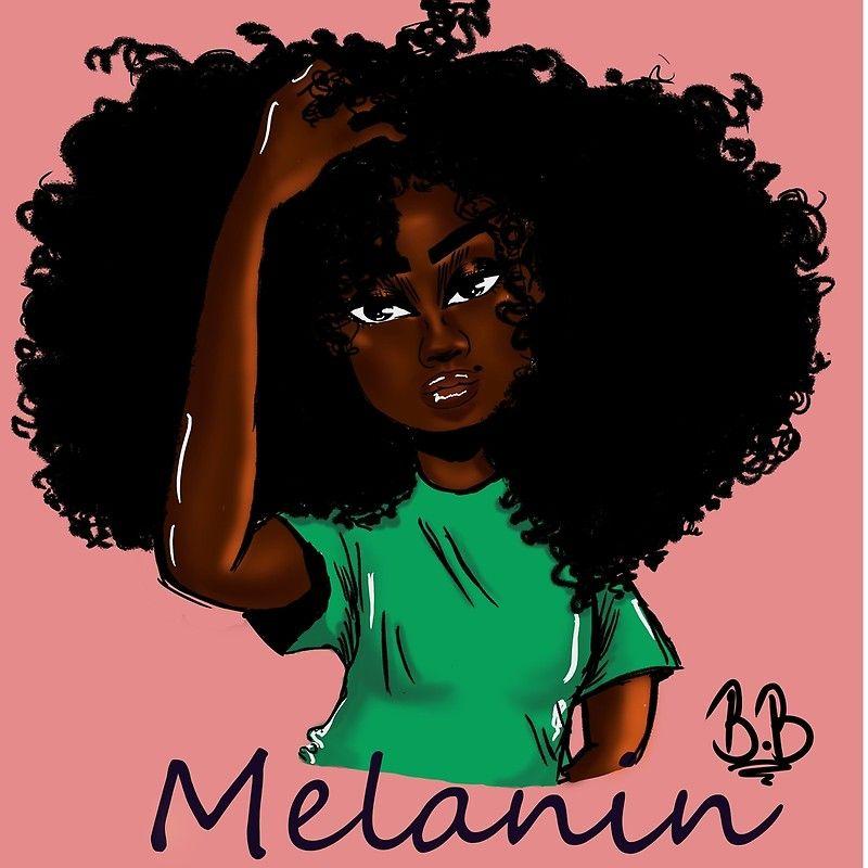 Melanin Canvas Print By Bribenjamin725 Black Girl Cartoon Drawings Of Black Girls Black Girl Magic Art