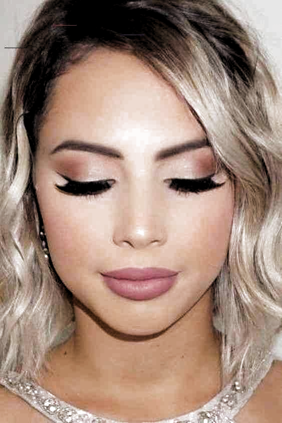 Check natural Prom makeup for brown eyes simple winged liner |