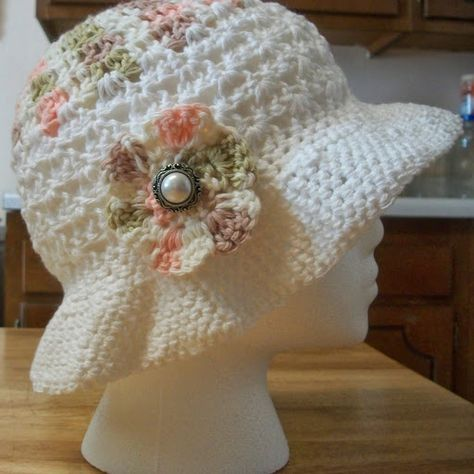 Crochet Hat Pattern for Summer | Häkelmuster | Pinterest | Häkelmuster