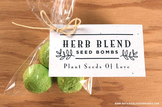 how to make seed bombs wedding favors