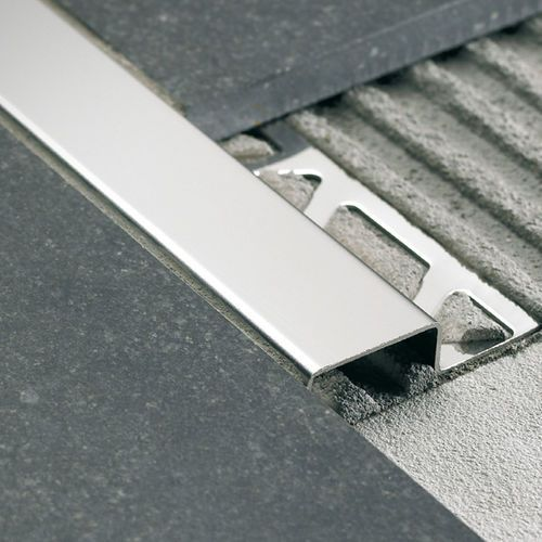 Stainless Steel Edge Trim For Tiles Cubetec Cu Fi Profilitec Flooring Stair Nosing Steel Stairs