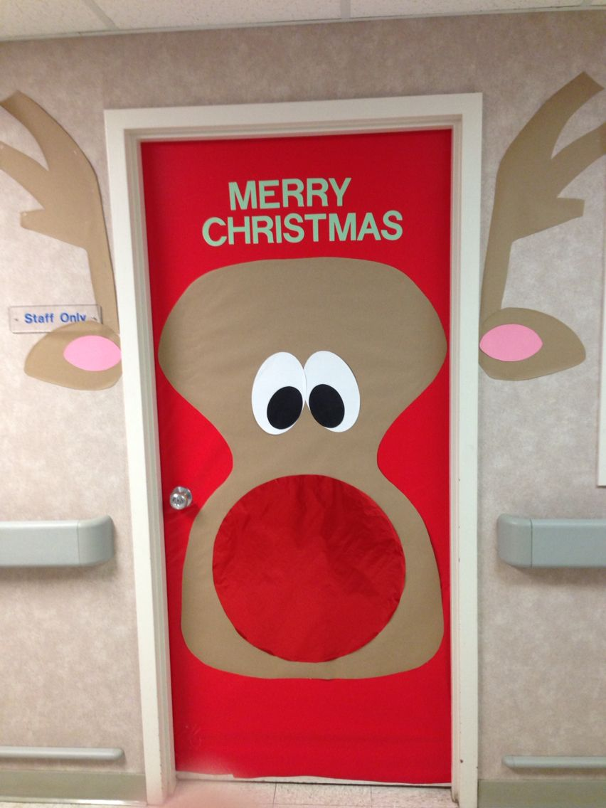 Christmas Rudolph Door | Bulletin Boards and Holiday doors ...