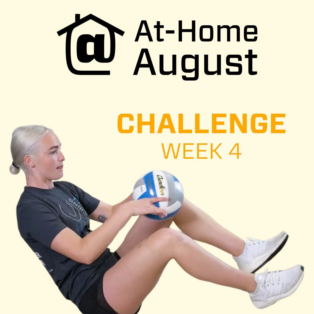 Last Week Of Athomeaugust Players You Can Still Get Your Valuable Reps In At Home The Challeng In 2020 At Home Workouts August Challenge Wall Sit Challenge