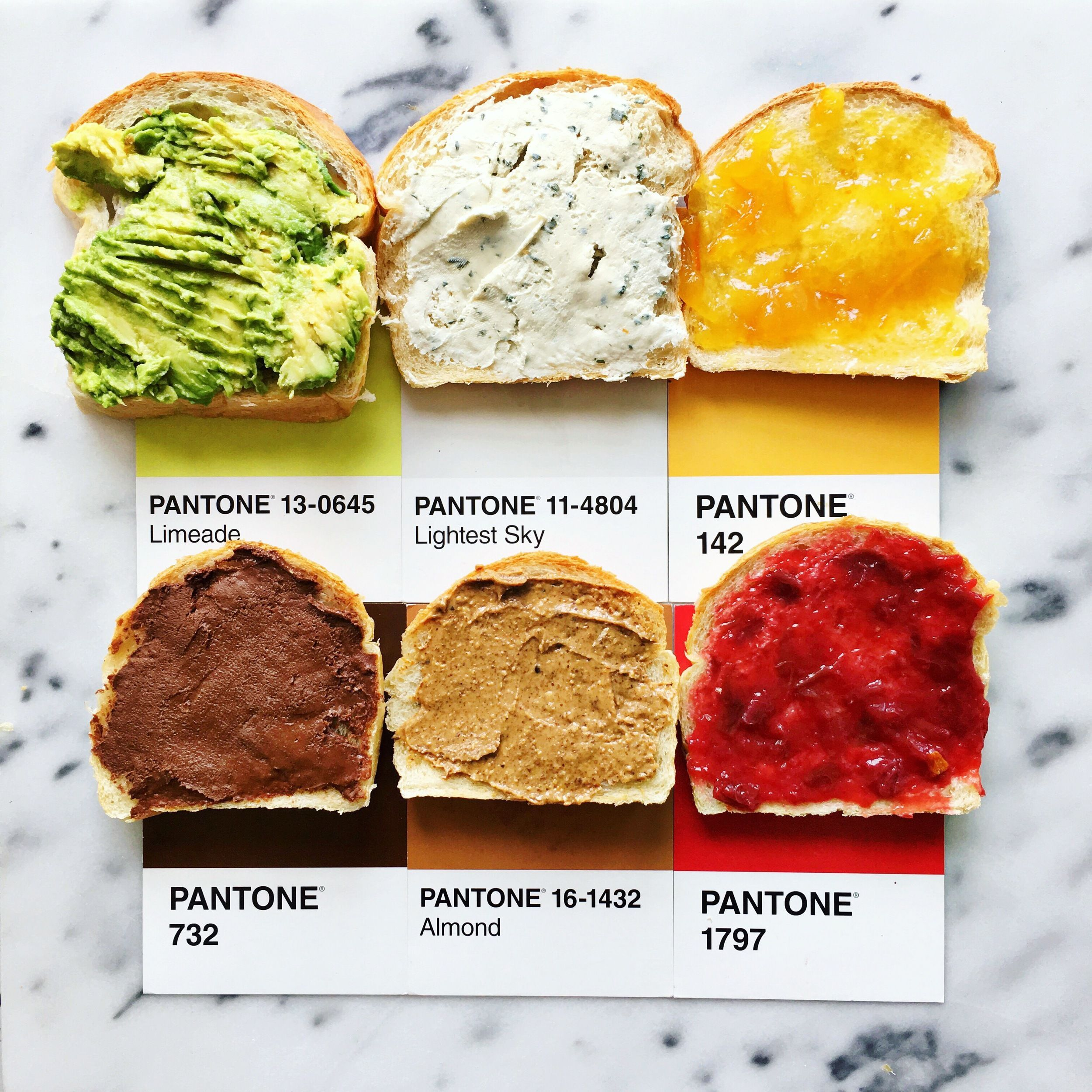 Lucy Litman's Pantone 'Pairing' Food Cards | Decoration