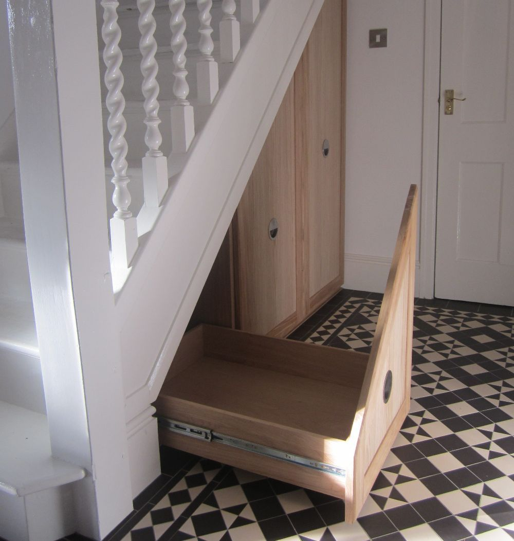 Image Result For Pull Out Shelves Under Stairs