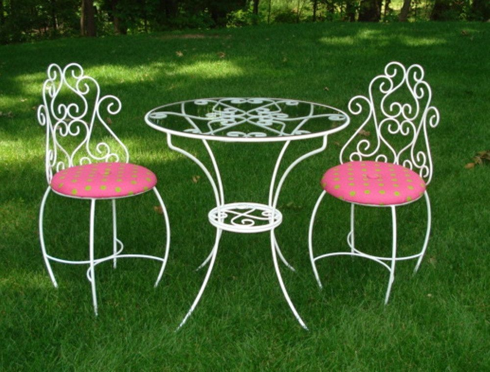 Items similar to Kids Tea Party Table and Chairs Set Furniture on Etsy & Kids+Tea+Party+Table+and+Chairs+Set+by+CarrieMarieOriginals+$ ...