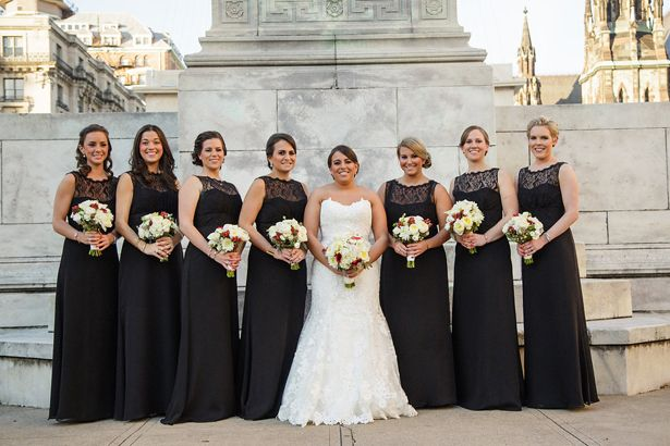 Gorgeous Classic Wedding With Winter Undertones Black Bridesmaid DressesBlack