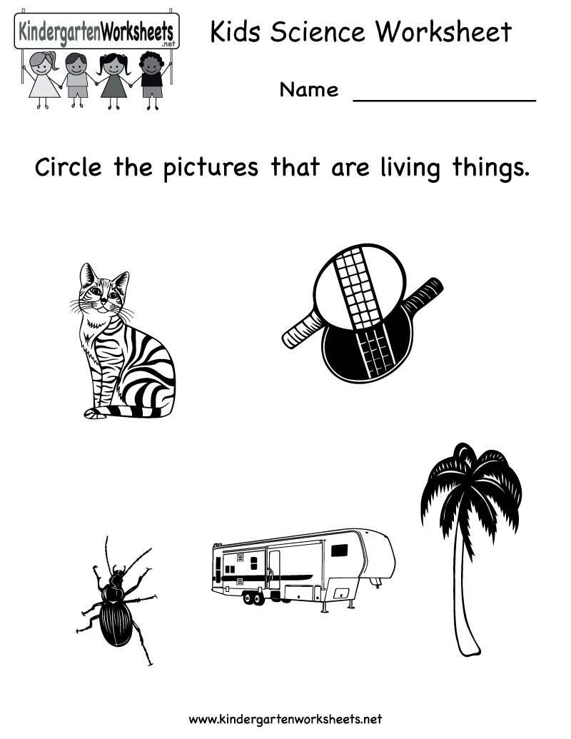 Kindergarten Kids Science Worksheet Printable – Science Printable Worksheets