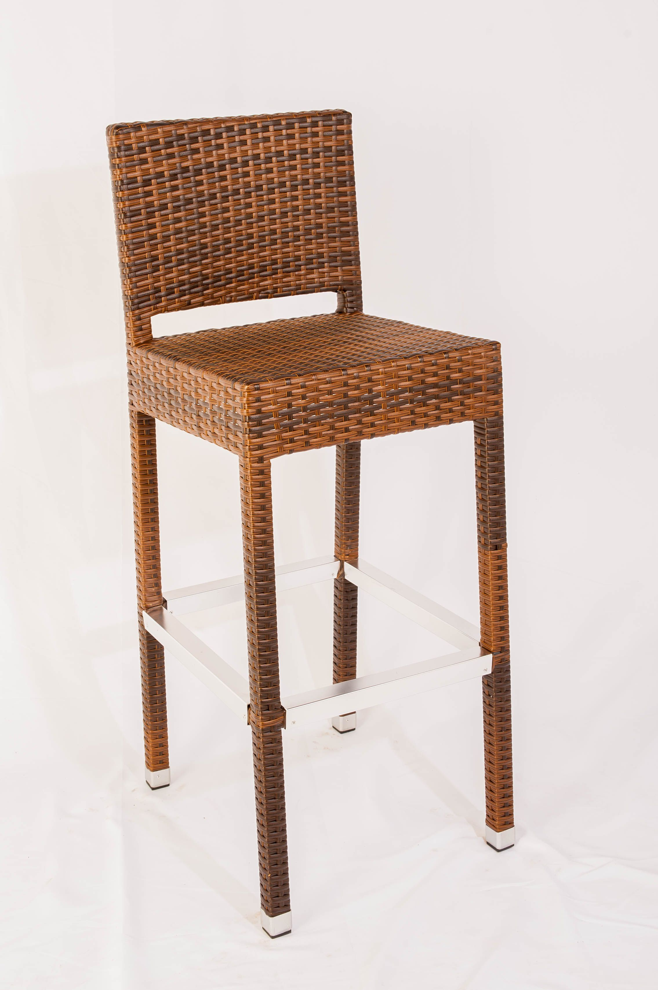 Stupendous Gamma Wicker Armless Bar Stool In 2019 Outdoor Seating Download Free Architecture Designs Scobabritishbridgeorg