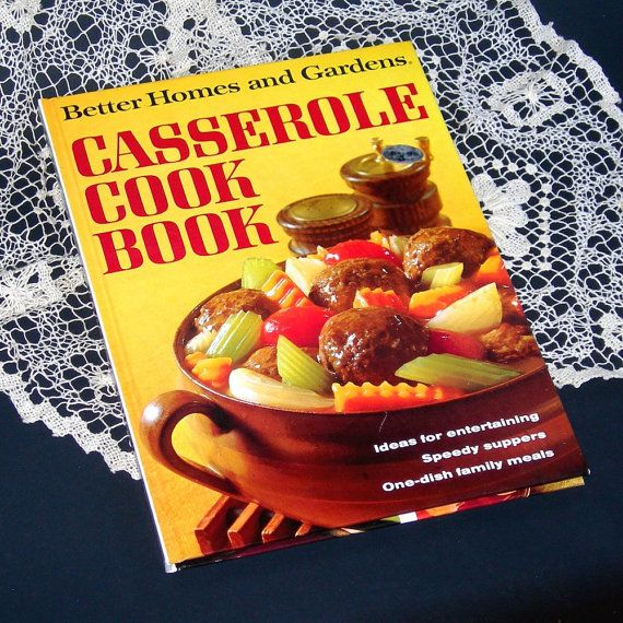 Vintage 1968 Casserole Cook Book Better Home By Atticdustantiques