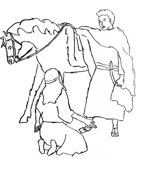Kindness David Abigail Nabal Bible Coloring Pages David