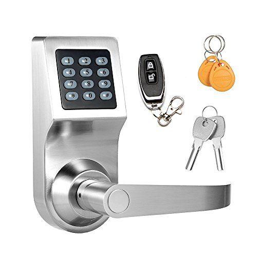 Keyless Electronic Digital Smart Door Lock Keypad Smartcode Security Grant Control Access For Home Office Silver Smart Door Locks